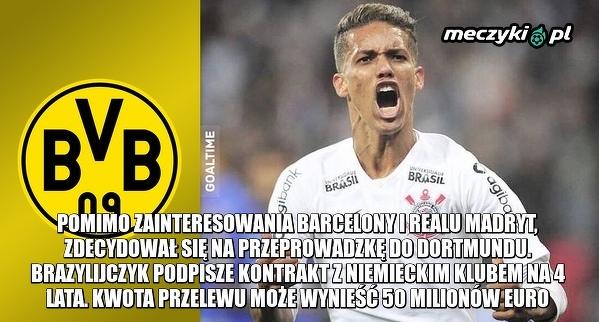 Bild: Borussia zgodziła się na kontrakt z pomocnikiem SC Corinthians Paulista, Pedrinho