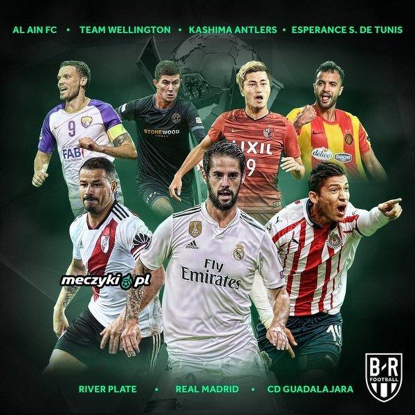 Wszystkie zespoły Klubowych Mistrzostw Świata 2018