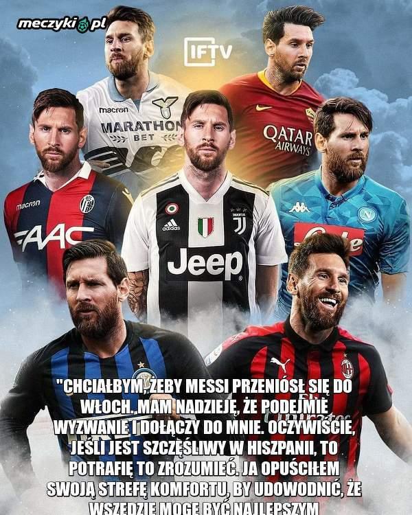 Ronaldo chciałby zmierzyć się z Messim w Serie A