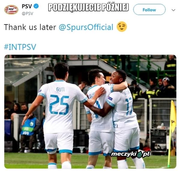Wiadomość PSV do Tottenhamu