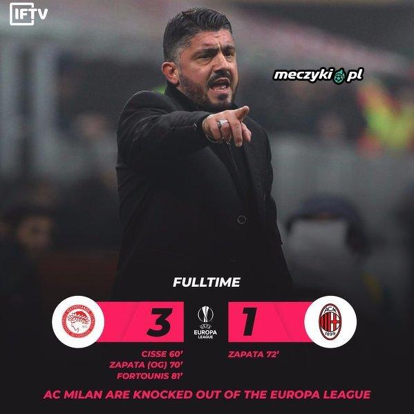 Milan odpada z Ligi Europy