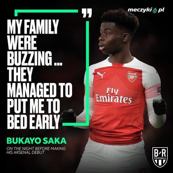 Debiutował w Arsenalu, musi wcześnie chodzić spać