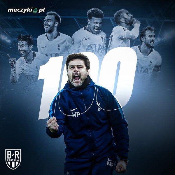 Mauricio Pochettino pierwszym trenerem Tottenhamu, który wygrał 100 meczów w Premier League