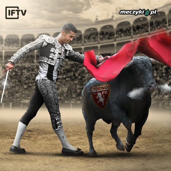 Torreador Ronaldo nie zawiódł