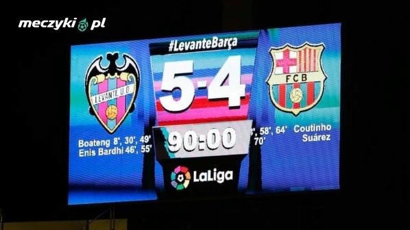W ubiegłym sezonie Levante złamało nadzieje Barcelony na sezon bez porażki