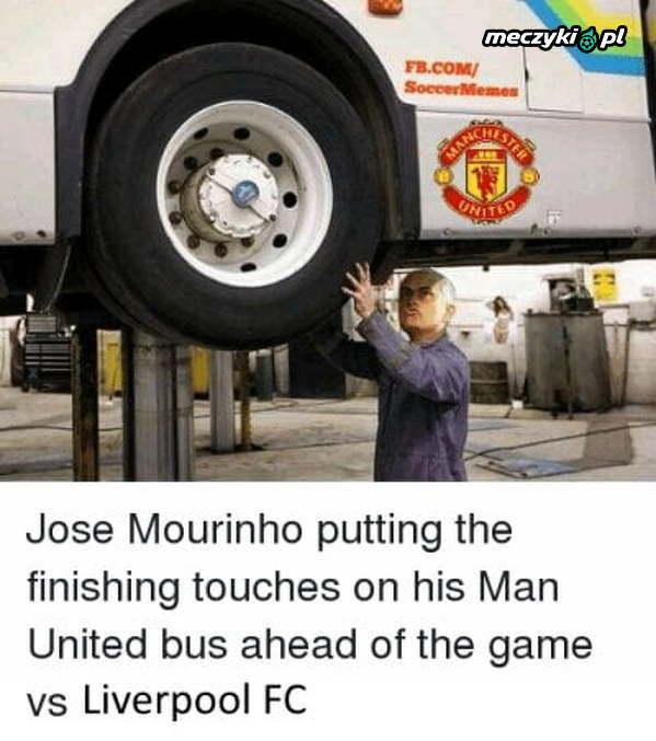 Ostatnie poprawki Mourinho przed meczem z Liverpoolem