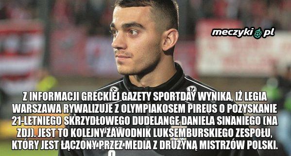 Legia z Pireusem walczą o zawodnika Dudelange