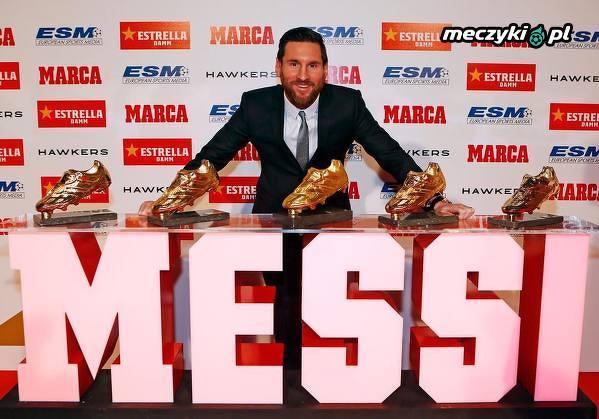 """Leo Messi odebrał piąty """"Złoty But"""" w swojej karierze"""