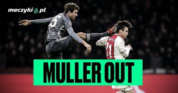 Thomas Muller z powodu czerwonej kartki nie zagra w obu meczach przeciwko Liverpoolowi