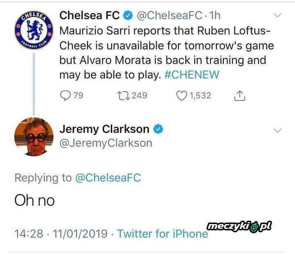 Reakcja Jeremy'ego Clarksona na wieść o możliwym występie Moraty