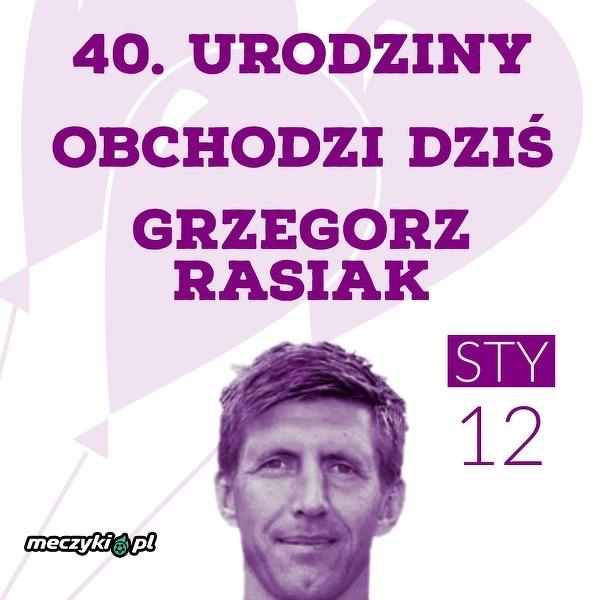 Grzegorz Rasiak kończy dziś 40 lat