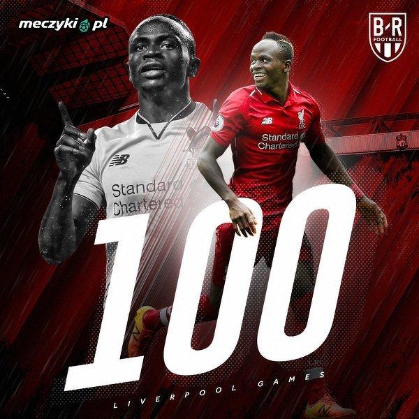 Sadio Mane rozegra dziś 100. mecz dla Liverpoolu