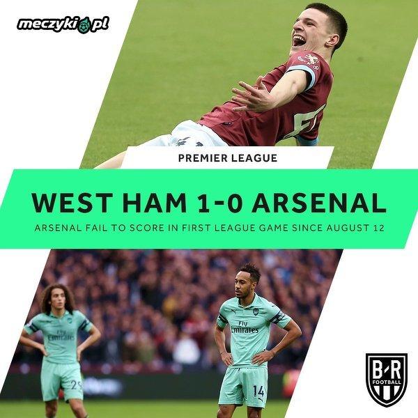 Arsenal niespodziewanie przegrywa z West Hamem