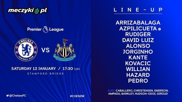 Skład Chelsea na Newcastle United