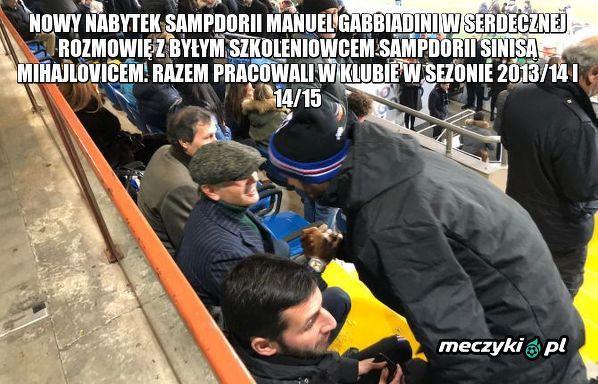 Spotkanie starych znajomych na meczu Sampdoria - AC Milan