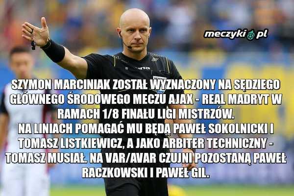 Polscy sędziowie w meczu LM.