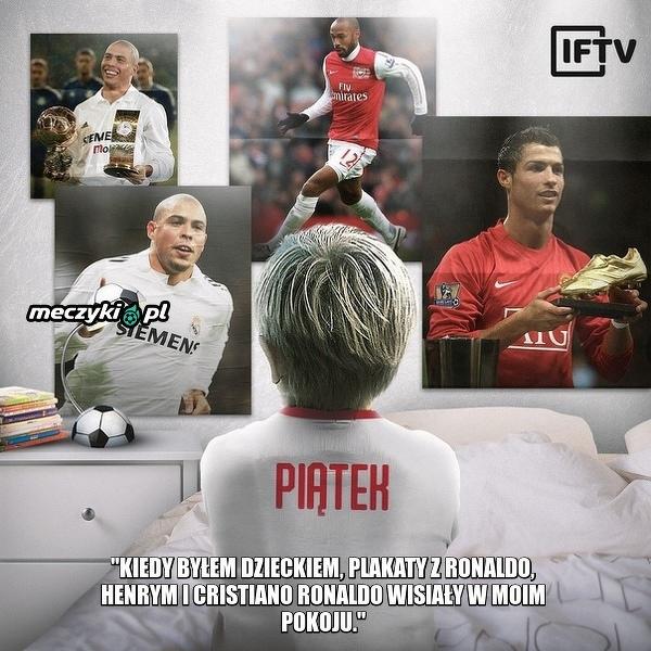 Krzysztof Piątek o swoich piłkarskich idolach