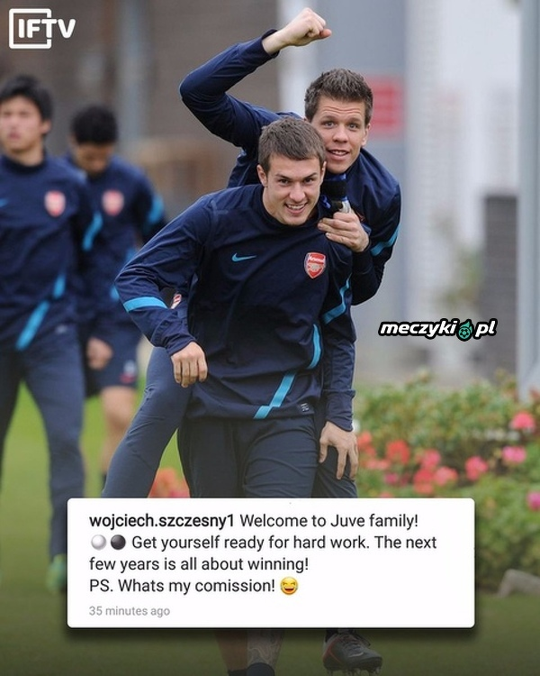 Szczęsny powitał starego znajomego z Arsenalu