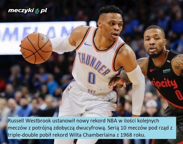 Imponujące osiągnięcie Russella Westbrooka