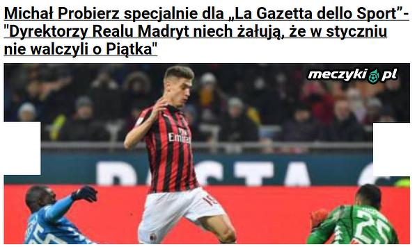 """Michał Probierz specjalnie dla """"La Gazzetta dello Sport"""