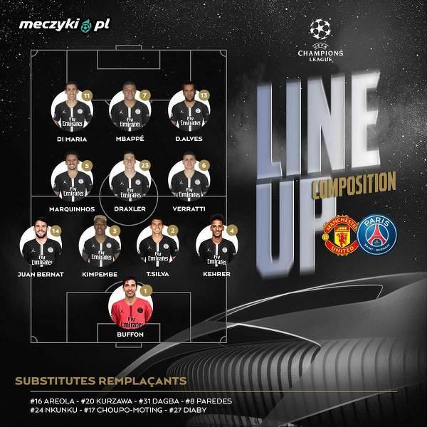 Wyjściowa XI PSG na mecz z Man Utd