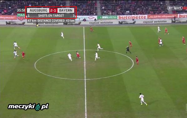 Taka sytuacja w meczu Augsburg - Bayern