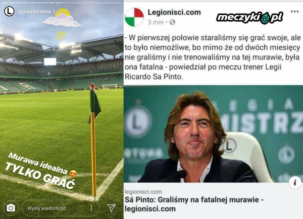 Oficjalny profil Legii przed meczem vs Ricardo Sa Pinto po meczu