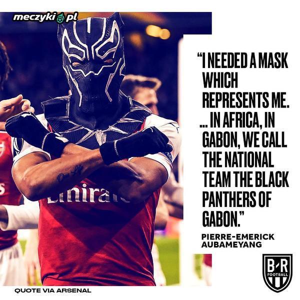 Auba wyjaśnia czemu założył maskę