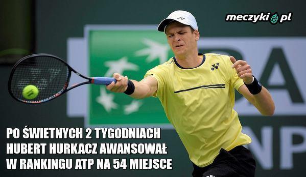 Hurkacz coraz bliżej TOP 50 w rankingu ATP