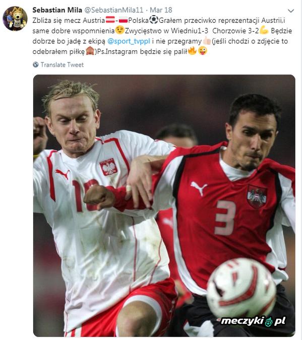 Sebastian Mila ma dobre wspomnienia z reprezentacją Austrii