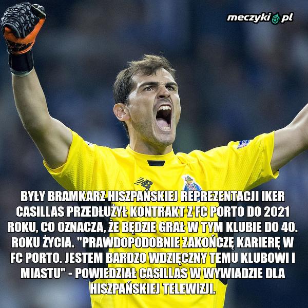 Casillas przedłużył kontrakt do 2021 roku