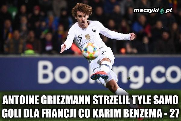 Griezmann wyrównał wynik Benzemy