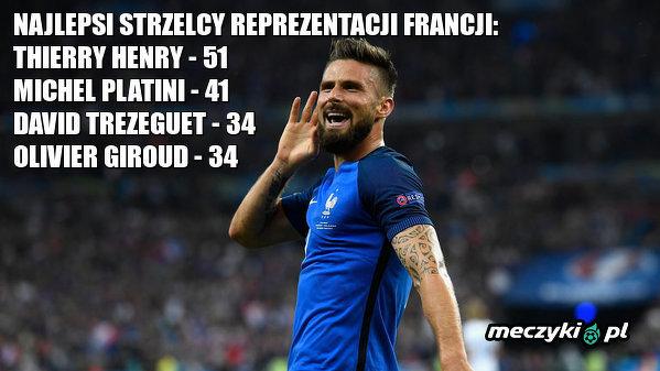 Giroud z kolejnym golem w reprezentacji