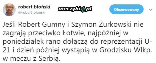 Gumny i Żurkowski mogą zagrać w reprezentacji U-21