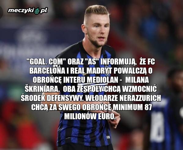 Barcelona i Real powalczą o obrońcę Interu
