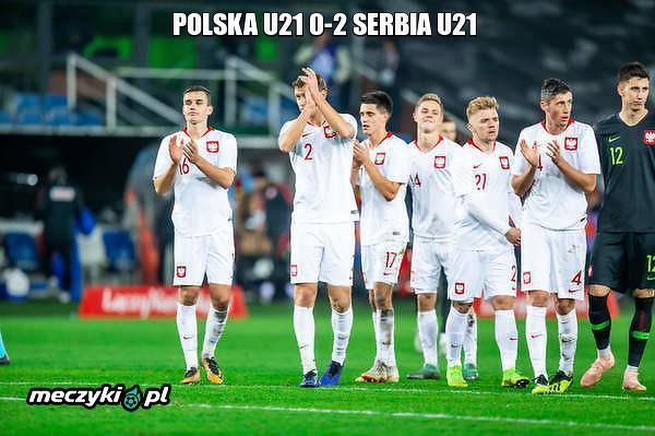 Polska Reprezentacja U21 przegrała 0-2 z Serbią