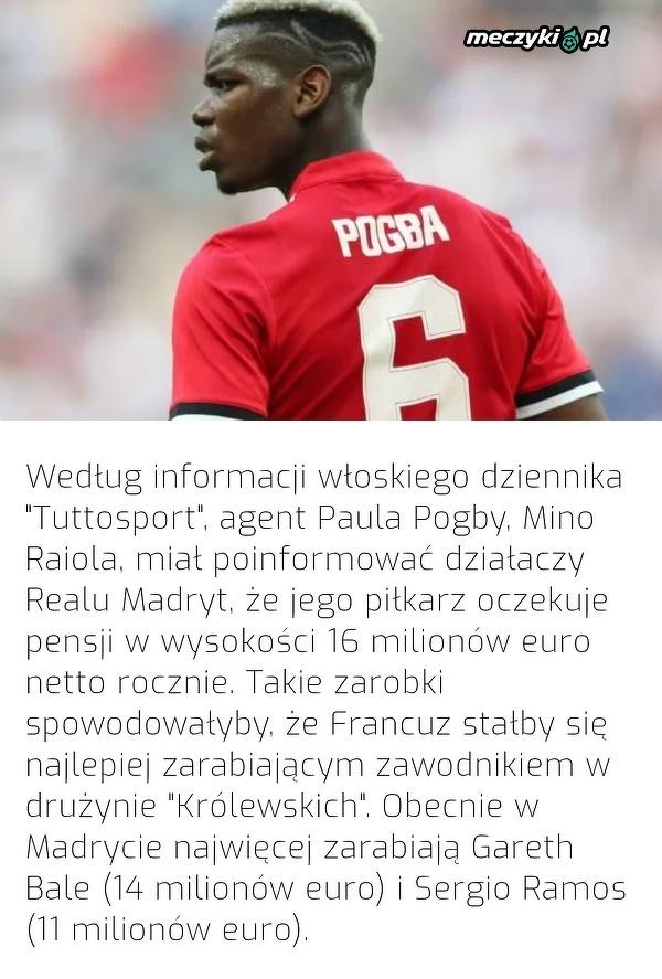 Kosmiczne wynagrodzenie dla Pogby przy ewentualnym transferze do Realu