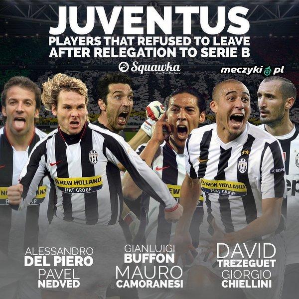 Nie opuścili Juventusu gdy spadali do Serie B