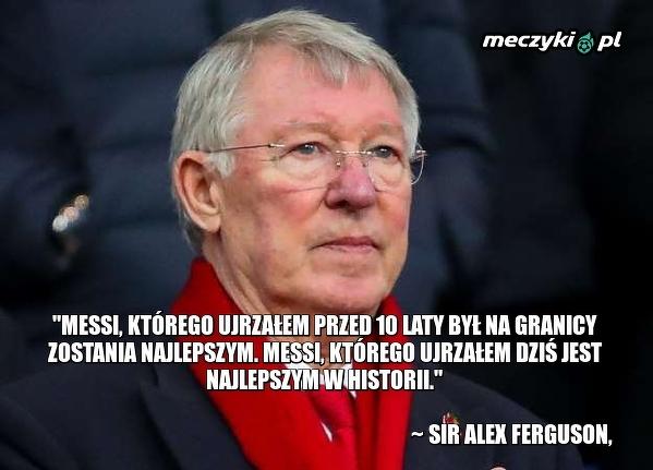 Sir Alex Ferguson po meczu Barcy z United