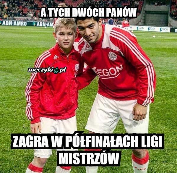 Mały de Ligt i młody Suarez