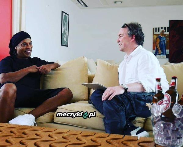 Michał Pol spotkał się z Ronaldinho