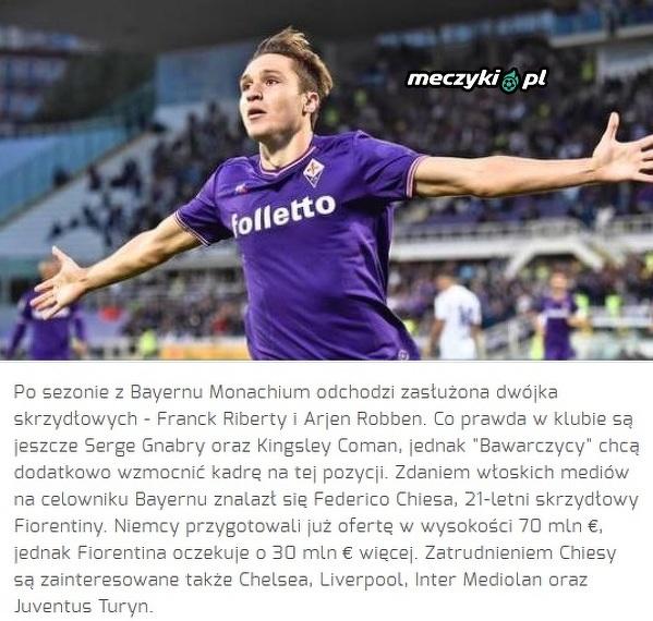 Bayern wyda fortunę na grasza Fiorenitny?