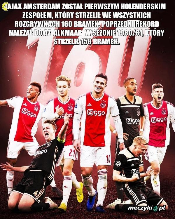 Ajax nie przestaje strzelać