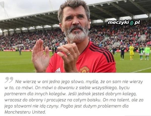 Ostre słowa Keane'a na temat Pogby