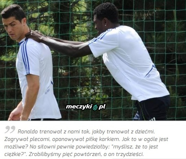 Adebayor o treningach z Ronaldo