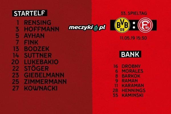Kownacki w pierwszym składzie Fortuny na mecz z BVB!
