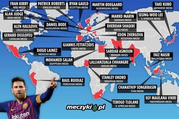 """Piłkarze nazywani """"Messim"""" w krajach świata"""