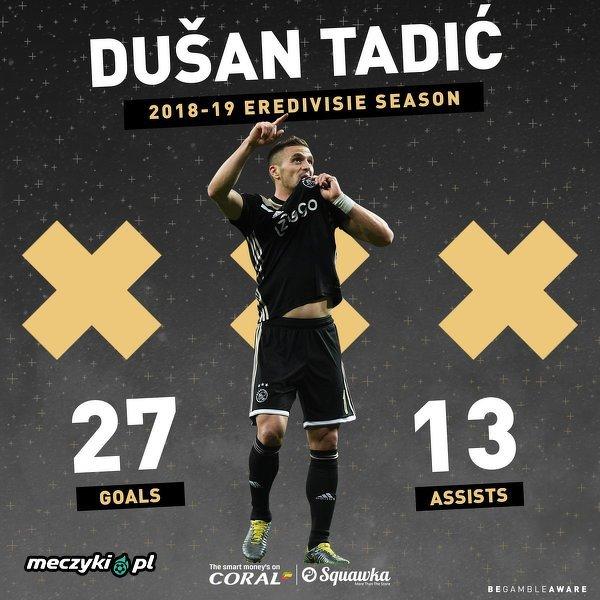 Fantastyczny sezon ligowy Dusana Tadica