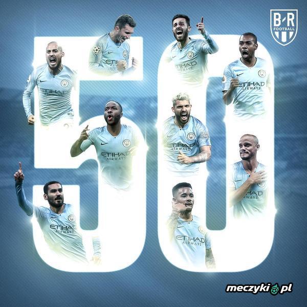 Manchester City wygrał 50. mecz w tym sezonie