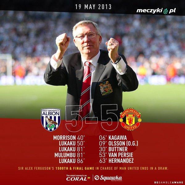 Dokładnie 6 lat temu sir Alex Ferguson ostatni raz poprowadził Manchester United